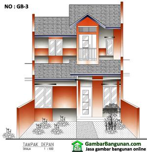 Desain rumah tipe 21 2 lantai di tangerang