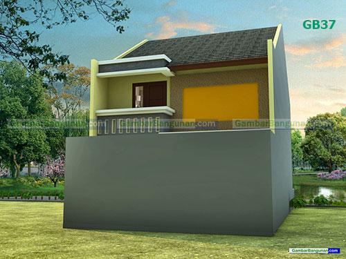 Desain renovasi rumah tampak belakang