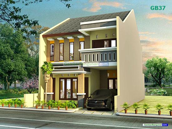 Desain renovasi rumah tampak depan sisi kanan