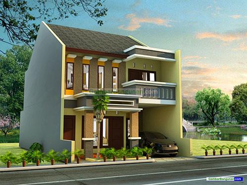 Desain renovasi rumah tampak depan sisi kiri