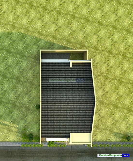 desain tampak atas renovasi rumah
