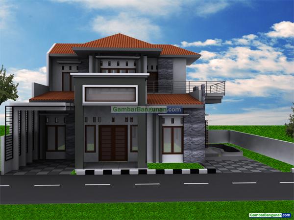 rumah minimalis dilihat dari depan