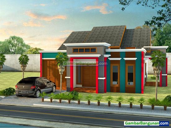 rumah minimalis hadap depan dan samping