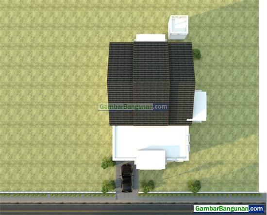 tampak atas rumah minimalis 2 teras