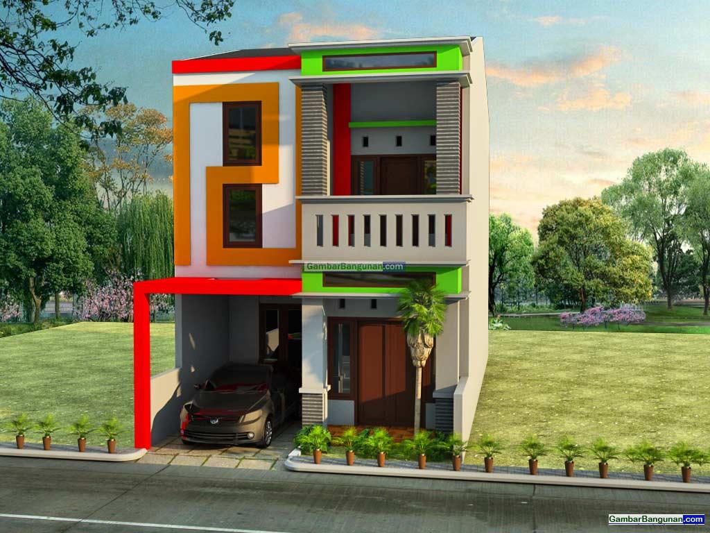 tampak depan renovasi rumah 2 lantai minimalis