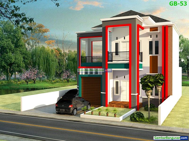 desain rumah minimalis 2 lantai di semarang