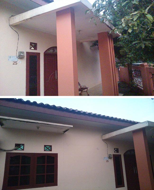 foto rumah 1 lantai sebelum di renovasi