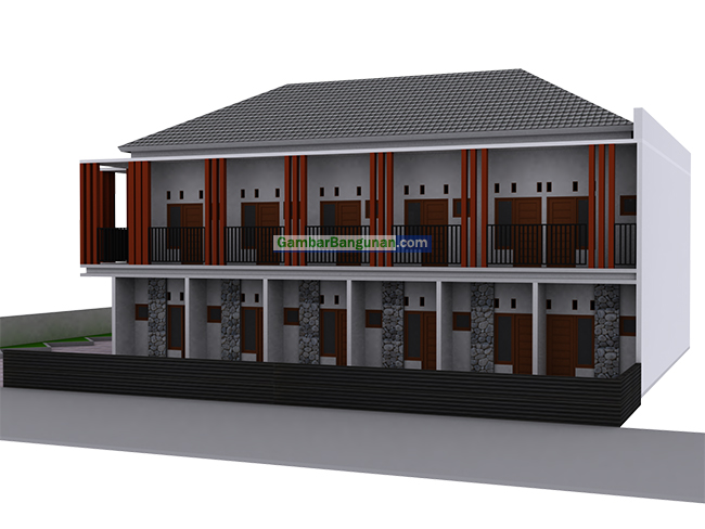 desain tampak depan rumah kost