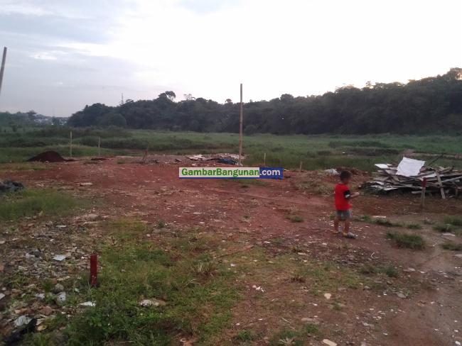 lokasi tanah dii bekasi yang akan di desain rumah