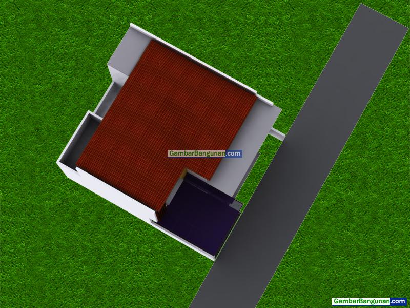 tampak atas rumah 2 lantai di bekasi